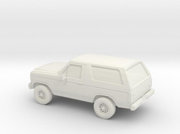 1/100 1984 Ford Bronco in White Natural Versatile Plastic