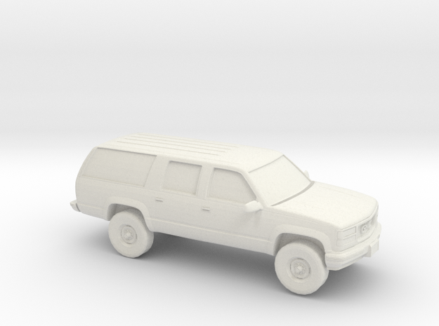 1/100 1999 GMC Suburban in White Natural Versatile Plastic