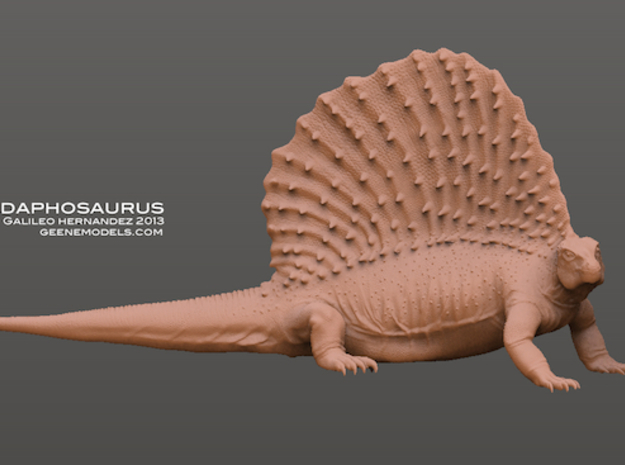 Edaphosaurus 1:35 scale  in White Strong & Flexible