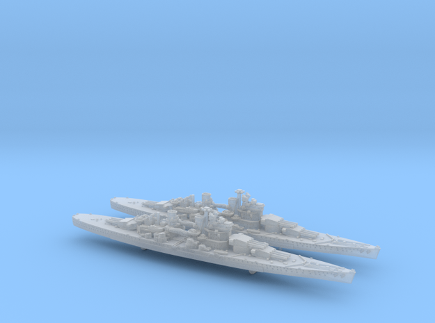 1/2400 UK Lion class battleship (1939) x2 in Frosted Ultra Detail