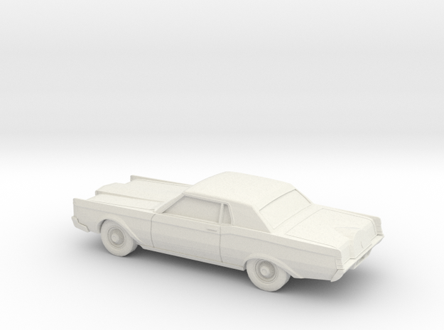 1/87 1968-71 Lincoln Mark III in White Natural Versatile Plastic