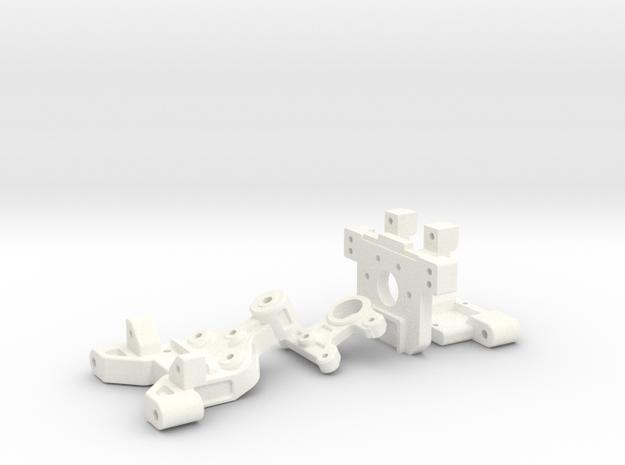NRC-32 Arm Mounts & Bulkhead in White Processed Versatile Plastic