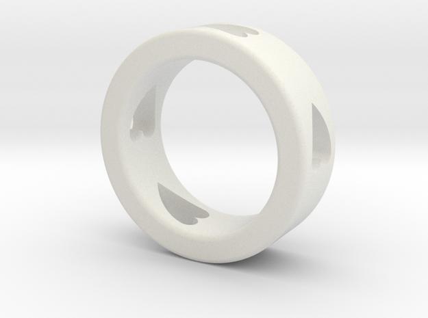LOVE RING Size-9 in White Natural Versatile Plastic
