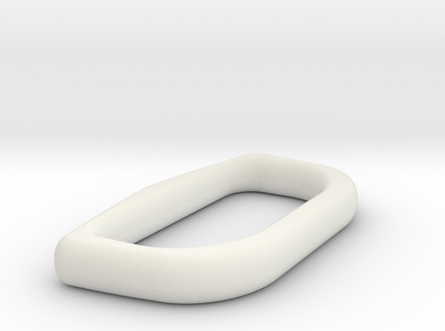 Upper Rocketeer Buckle - Ring in White Natural Versatile Plastic