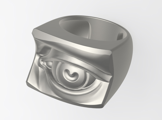 David's Eye Ring Hollow 3d printed rendered with V-Ray