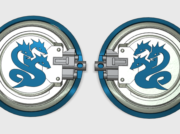 10x Hydra Legion 2- Aggressor:2 combat shields in Frosted Ultra Detail