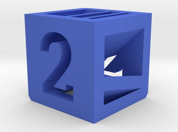 Photogrammatic Target Cube 2 in Blue Processed Versatile Plastic