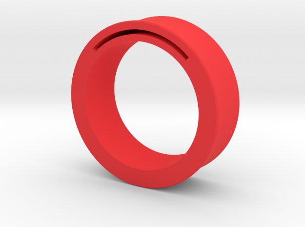 Simple Band-Nfc-Rfid Ring in Red Processed Versatile Plastic