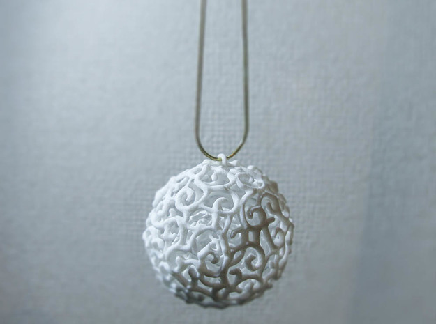 Pendant_top_KARAKUSA in White Processed Versatile Plastic