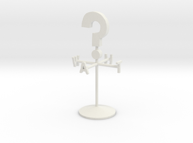 Giant Weather Vane in White Strong & Flexible
