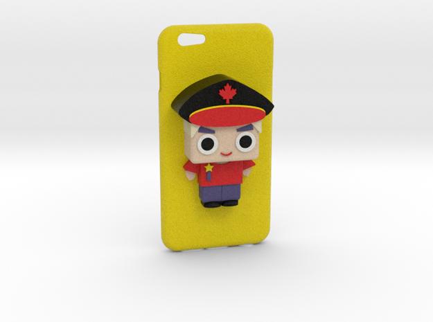 Iphone 6 Case (Cute policemen) in Full Color Sandstone