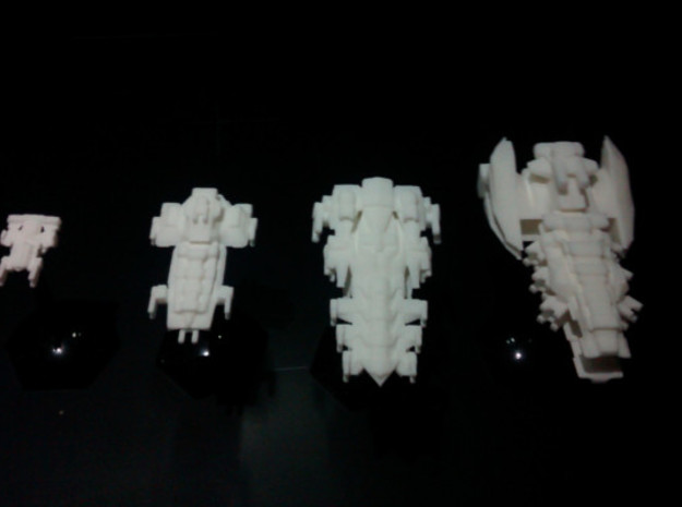 Imperal Fleet in White Natural Versatile Plastic