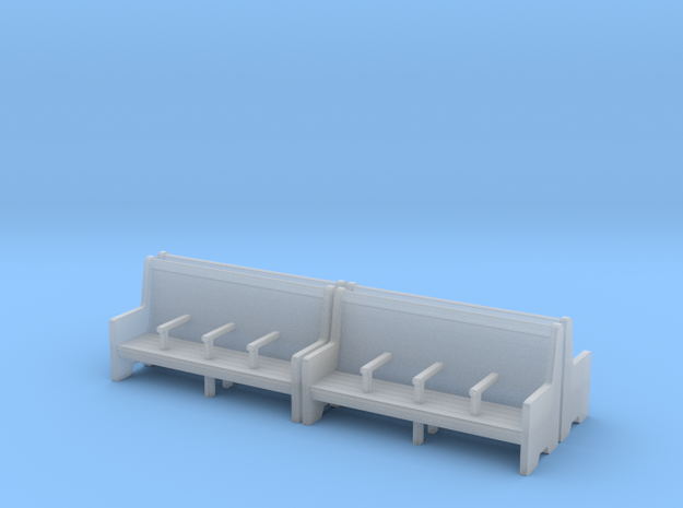 Bench type C - 1:87 scale 4 Pcs set  in Smooth Fine Detail Plastic