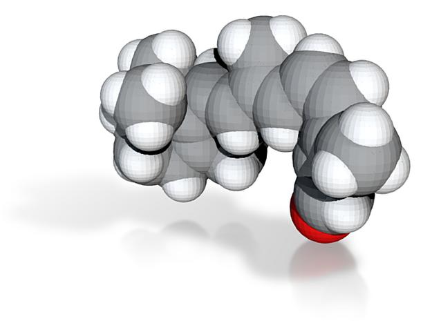 Rhodopsin molecule (x40,000,000, 1A = 4mm) 3d printed