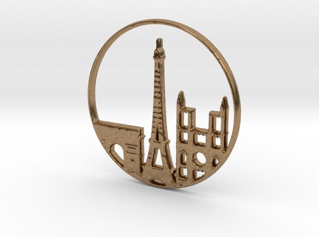 Paris Pendant in Natural Brass