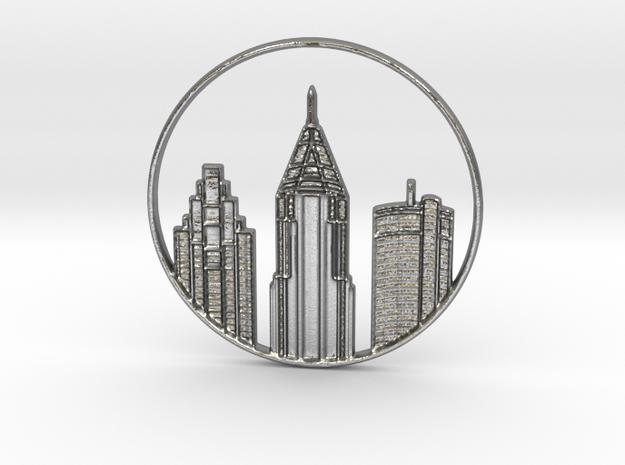 Atlanta Pendant in Natural Silver
