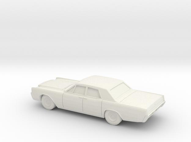 1/87 1966-68  Lincoln Continental Sedan in White Natural Versatile Plastic