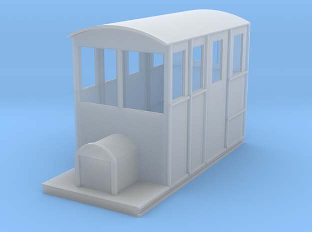 Tralee & Dingle Railcar 4mm scale 009 in Smooth Fine Detail Plastic