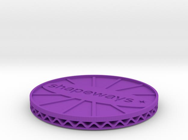^coaster shapeways 3d printed Shapeways Render - Purple Strong & Flexible Polished