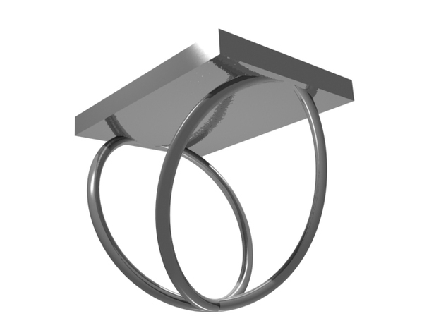 Silver Periodic Table Ring Size 6 Spiral Ring Band 3d printed CGI Render of The Silver Periodic Table Ring From The Bottom