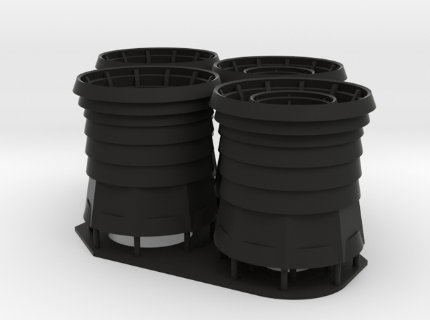 1/72 Burke Stack - Round Base in Black Natural Versatile Plastic