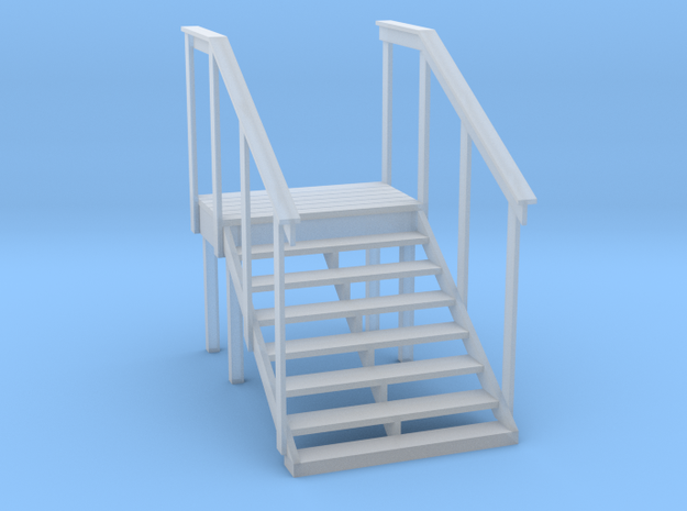 MOF Red Barn Office Stairs - 72:1 Scale in Smooth Fine Detail Plastic