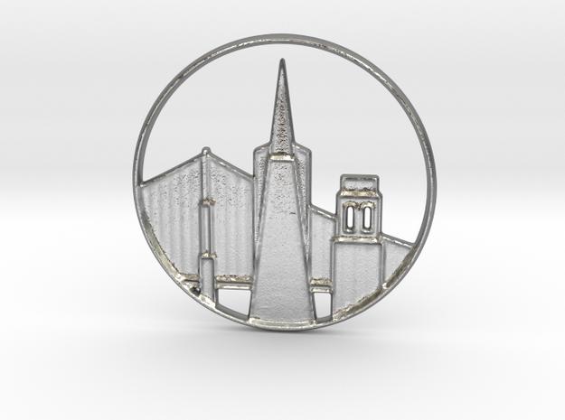 San Francisco Pendant in Natural Silver