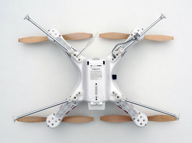 DJI Phantom Foldable Landing Gear 3d printed DJI Phantom Foldable Landing Gear bottom view folded
