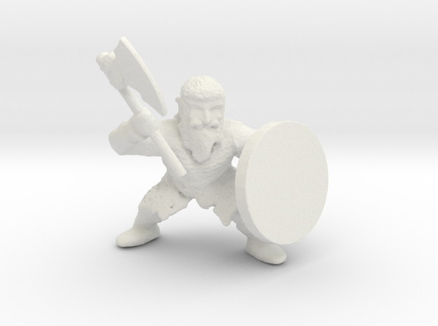 Dwarf Axeman 1 in White Strong & Flexible