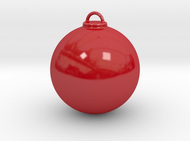 Christmas Ball - Custom in Gloss Red Porcelain