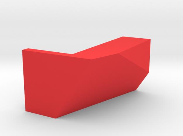 Kartenhalter 001 Eckig in Red Processed Versatile Plastic