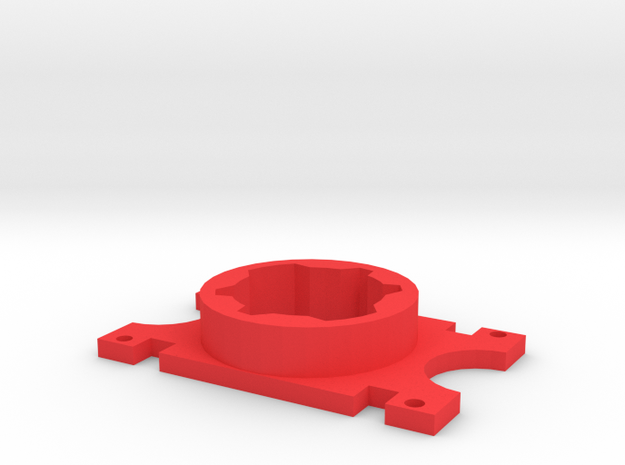 S3 Arctic Laser Adapter For Thing-o-matic in Red Processed Versatile Plastic