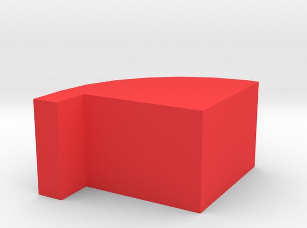 Belt Spacer in Red Processed Versatile Plastic