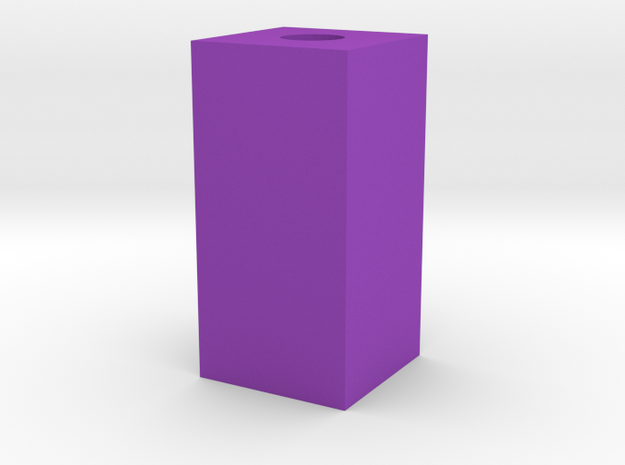 Feet Fixed in Purple Processed Versatile Plastic