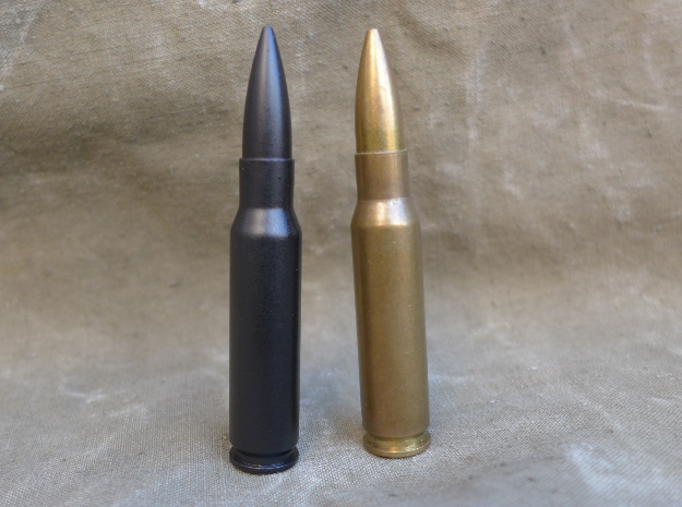 7.62x51 mm NATO in Black Natural Versatile Plastic