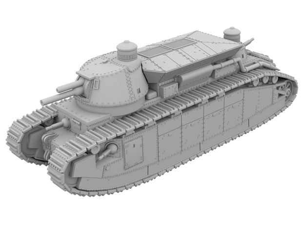 1:87 - Char 2c [WSF] in White Natural Versatile Plastic