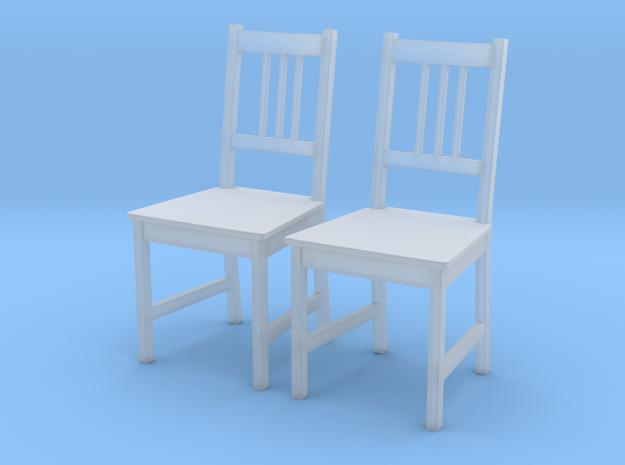 IKEA Stefan Chair Set of 2 in Smooth Fine Detail Plastic: 1:24