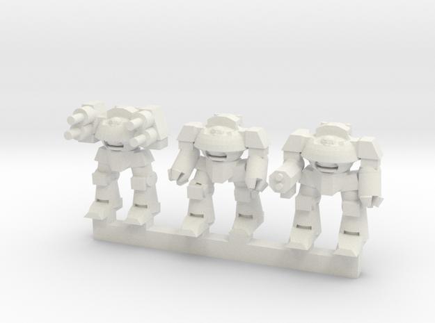 Super Soldier Walker Squadron in White Natural Versatile Plastic