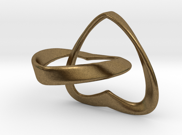 Joined Together - Interlocking Hearts Pendant 3d printed