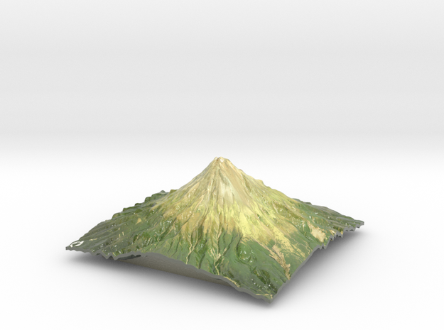 "Mt Taranaki Map - 9"" in Coated Full Color Sandstone"