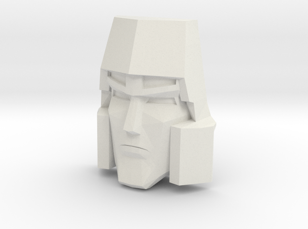 Megatron Face, Sunbow (Titans Return) in White Natural Versatile Plastic