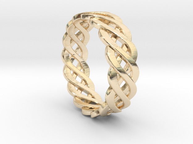 Celtic Infinity Band 7.5 U.S. in 14k Gold Plated Brass