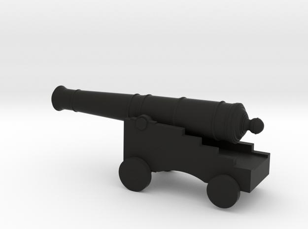 18th Century Ship Canon in Black Natural Versatile Plastic