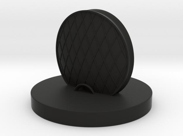 Chess Rook_Abu Dhabi  in Black Natural Versatile Plastic