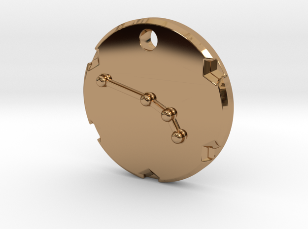 Aries Pendant in Polished Brass