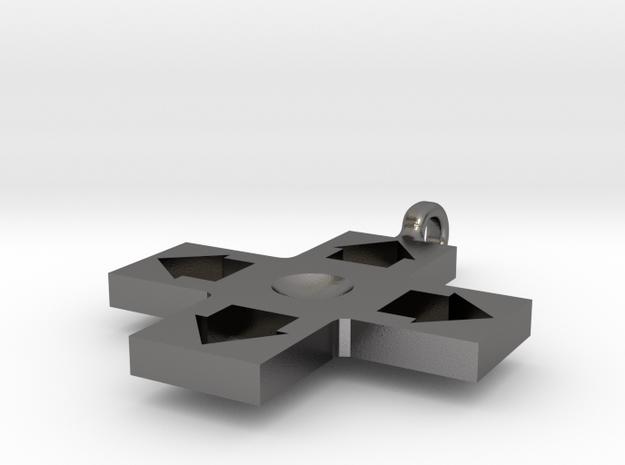 D-pad in Polished Nickel Steel