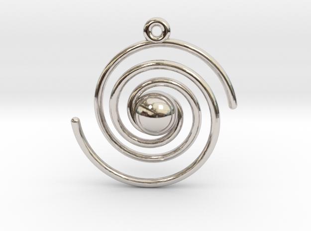Spiral Galaxy in Rhodium Plated