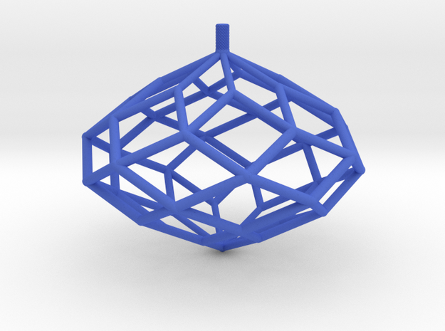 Rhombic Polyhedron Top in Blue Processed Versatile Plastic