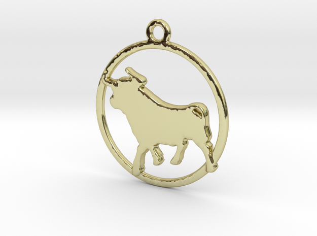 Taurus Pendant in 18k Gold Plated Brass