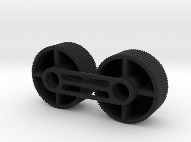 4X20 Scope Adjuster Knob Pair in Black Strong & Flexible